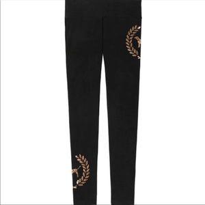 VS Pink   Black Leggings with Crest